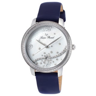 Lucien Piccard Mirage Navy Blue Satin White Mother of Pearl Dial Watch