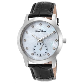Lucien Piccard Noureddine Black Genuine Leather White Watch