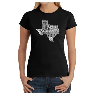 LA Pop Art Women's Texas State T-Shirt