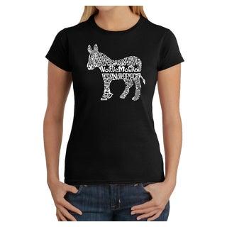 LA Pop Art Women's Vote Democrat T-Shirt
