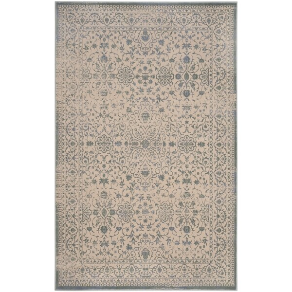 Safavieh Brilliance Vintage Cream/ Sage Green Distressed Rug - 8' x 10'