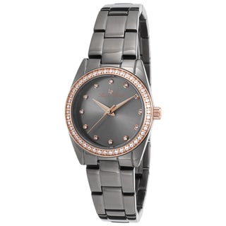 Lucien Piccard Women's LaBelle Gunmetal IP Steel and Dial Watch