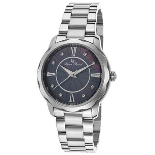 Lucien Piccard Balarina Stainless Steel Black Mother of Pearl Dial Watch