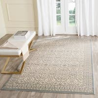 Safavieh Brilliance Vintage Cream/ Sage Green Distressed Rug - 6'7 x 9'2