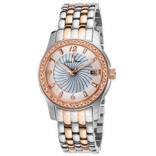 Lucien Piccard Merrel Stainless Steel and Rose-Tone Stainless Steel White Watch