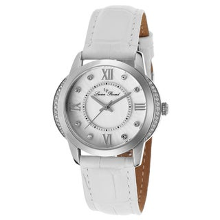 Lucien Piccard Dalida White Genuine Leather and Mother of Pearl Dial Watch
