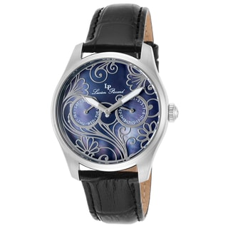 Lucien Piccard Lovemaze Black Genuine Leather and Mother of Pearl Dial Watch