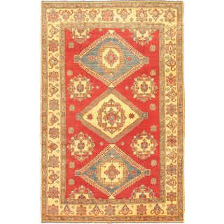 eCarpetGallery Hand-Knotted Finest Gazni Red Wool Rug (7'0 x 11'0)