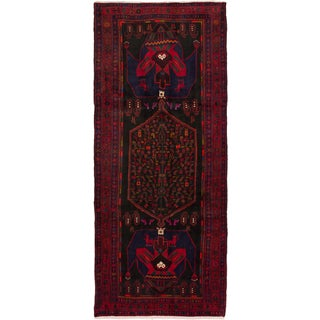 eCarpetGallery Hand-knotted Persian Zanjan Black/Red Wool Rug (5'0 x 11'10)