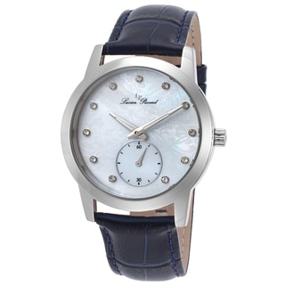 Lucien Piccard Noureddine Blue Genuine Leather White Mother of Pearl Watch