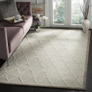 Safavieh Handmade Cambridge Light Grey/ Ivory Wool Rug (10' x 14')