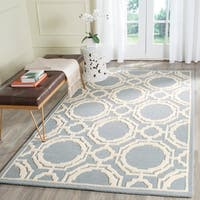 Safavieh Handmade Cambridge Grey/ Ivory Wool Rug - 8' X 10'
