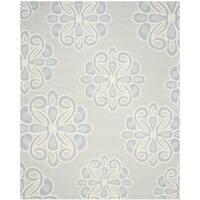 Safavieh Handmade Cambridge Grey/ Blue Wool Rug - 8' x 10'
