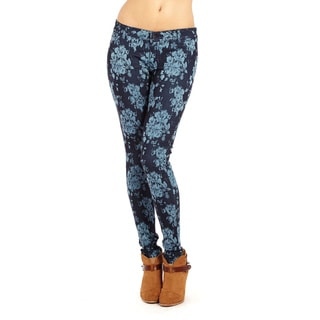 Women's Faux Pocket Jacquard Pants