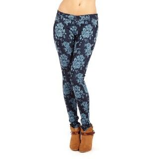 Women's Faux Pocket Jacquard Pants