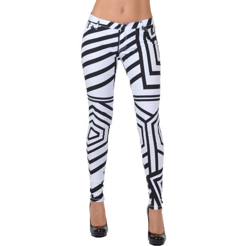 Women's Multicolored Form-fitting Striped Pants