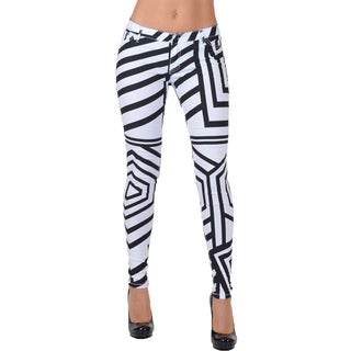 Women's Multicolored Form-fitting Striped Pants (More options available)