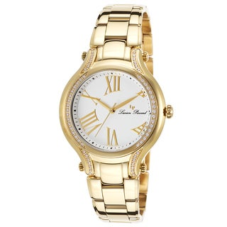 Lucien Piccard Elisia Gold-Tone Stainless Steel White Dial Watch