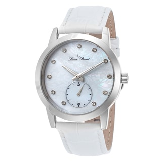 Lucien Piccard Noureddine White Genuine Leather and Mother of Pearl Watch