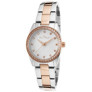 Lucien Piccard Women's LaBelle Silver-Tone and Rose-Tone Stainless Steel White Dial Watch