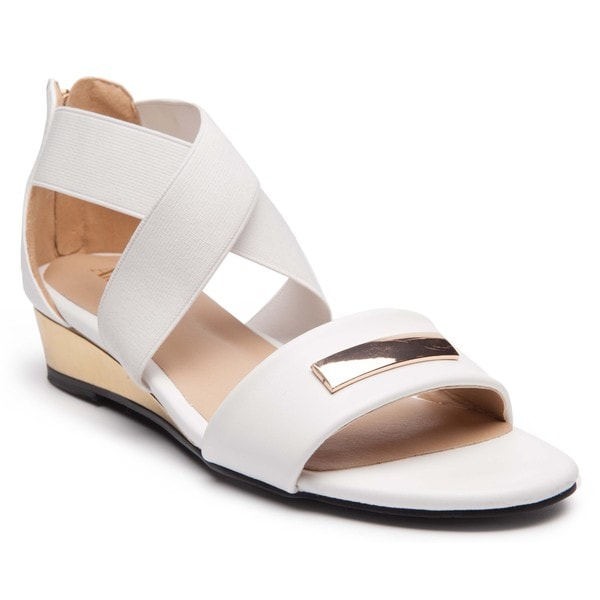 Ann Creek'Alda' Women's Solid Color Crisscross Strap Heels Sandals. Opens flyout.