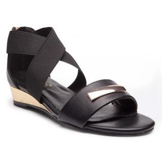 Ann Creek'Alda' Women's Solid Color Crisscross Strap Heels Sandals