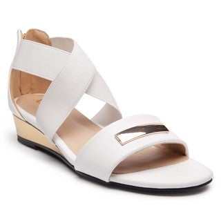 Ann Creek'Alda' Women's Solid Color Crisscross Strap Heels Sandals