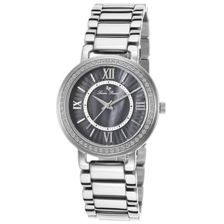 Lucien Piccard Alice Stainless Steel Black Mother of Pearl Watch