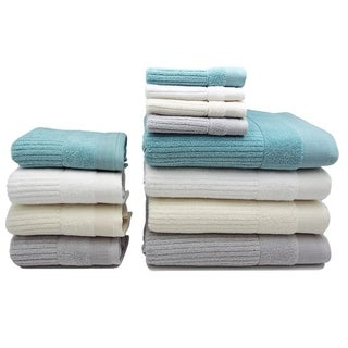 Home Fashion Designs Diamante Collection Premium 6-piece Turkish Cotton Ribbed Towel Set