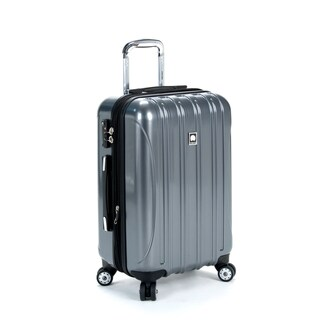 DELSEY Paris Helium Aero Titanium Grey 20-inch Expandable Hardside Carry On Spinner Suitcase