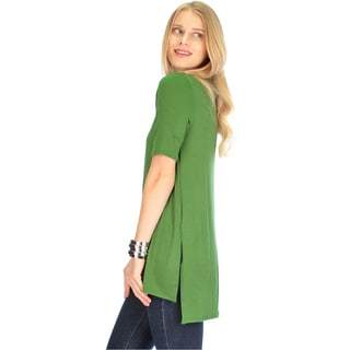 Side-Slit Women's Tunic Top