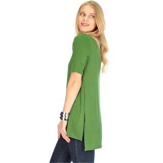Side-Slit Women's Tunic Top|https://ak1.ostkcdn.com/images/products/11745700/P18662312.jpg?impolicy=medium