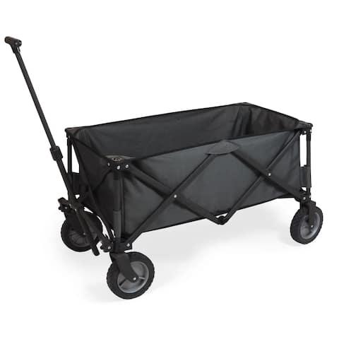 Picnic Time Adventure Wagon Folding Utility Wagon Dark Grey