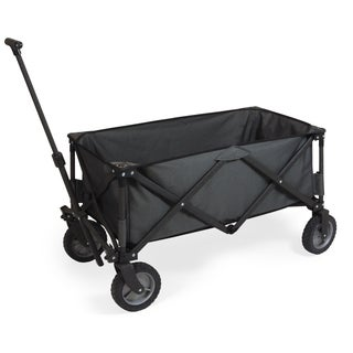 Picnic Time Adventure Wagon Folding Utility Wagon Dark Grey