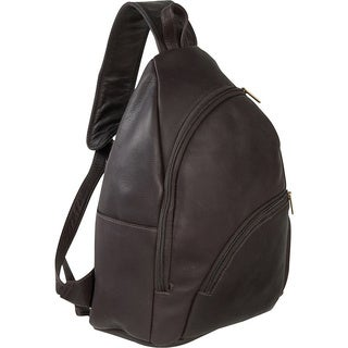 LeDonne Leather Unisex Leather Unisex Sling Backpack in Brown, Tan or Black