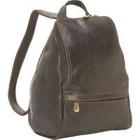 LeDonne Leather Distressed Leather Mini Backpack with U-Zip