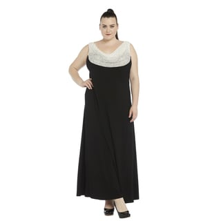 R&M Richards Plus-size Evening Gown