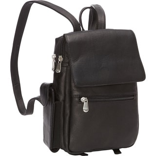 LeDonne Women's Leather Sapelli Backpack in Black, Tan or Brown