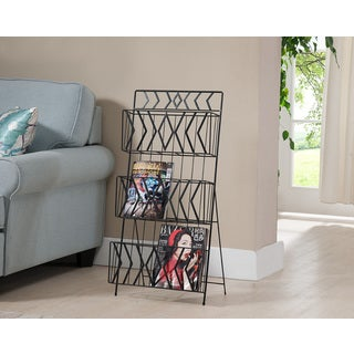 K&B 3 Tier Magazine Rack