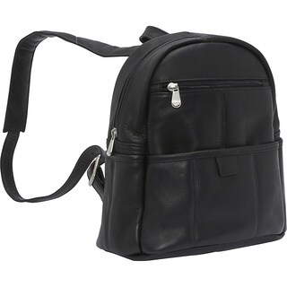 LeDonne Women's Leather Quick Slip Backpack