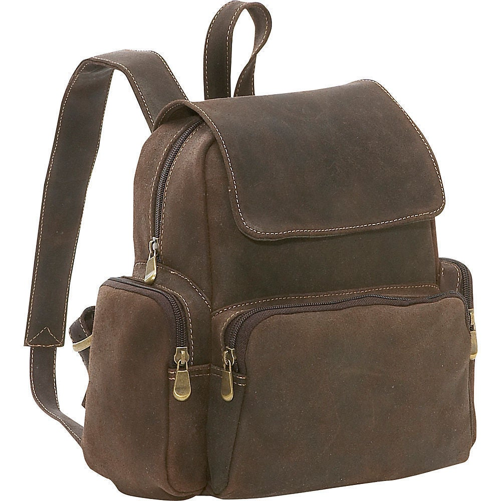 Ledonne Leather Women's Distressed Leather Mini Backpack ...