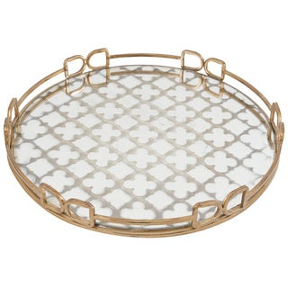 Metal and Glass 18-inch Tray