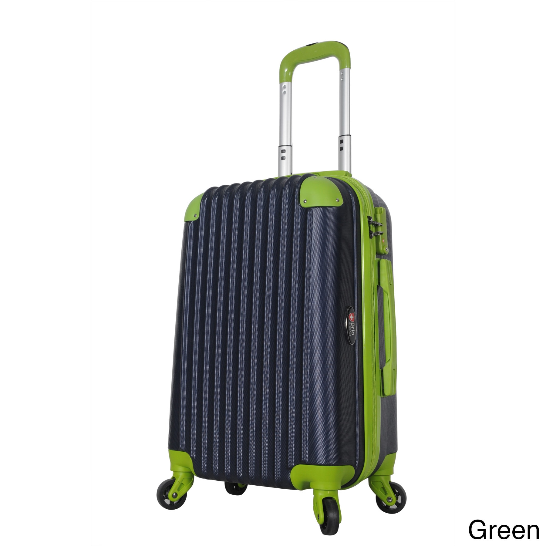 Brio Luggage 22-inch Hardside Carry On Suitcase with Spinner ...