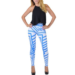 Women's Striped High-waisted Form-fitting Pants