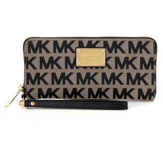 Michael Kors Jet Set Travel Beige/Black Continental Wallet