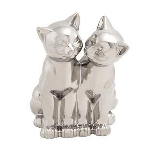 Adorable And Glossy Ceramic Cat Sculpture