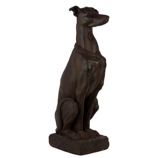 Realistic Brown Fiberstone Dog Statue