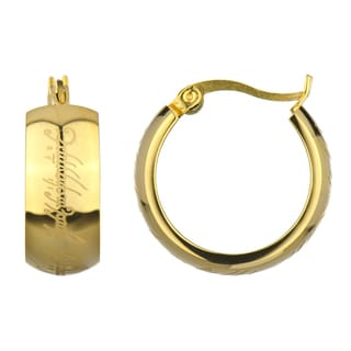 Gold Color Hoop Earrings