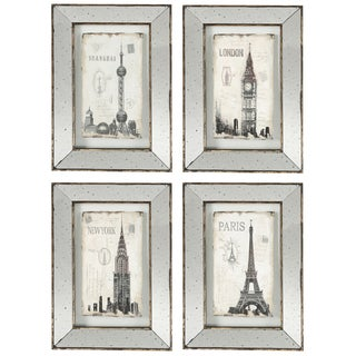 Landmark Framed Wall Decor (Set of 4)