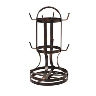 Gourmet Basics Antique Black-finish Forged Rotating Mug Tree